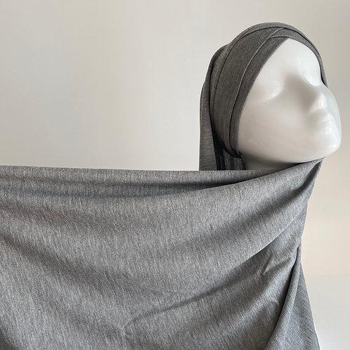 Hijab à enfiler jersey GRIS