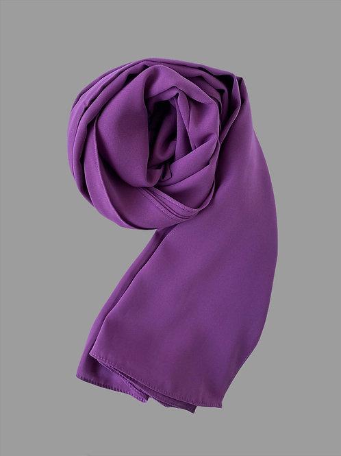 Hijab soie de médine violet