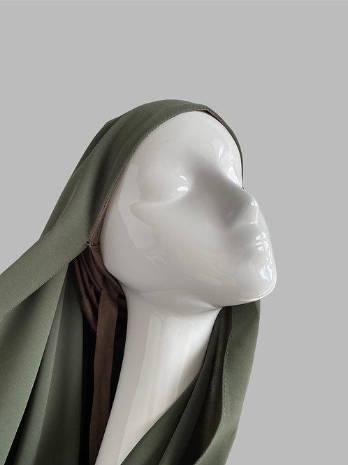 Hijab à enfiler kaki