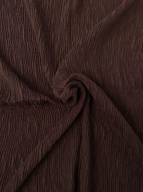 Écharpe plissée viscose Chocolat
