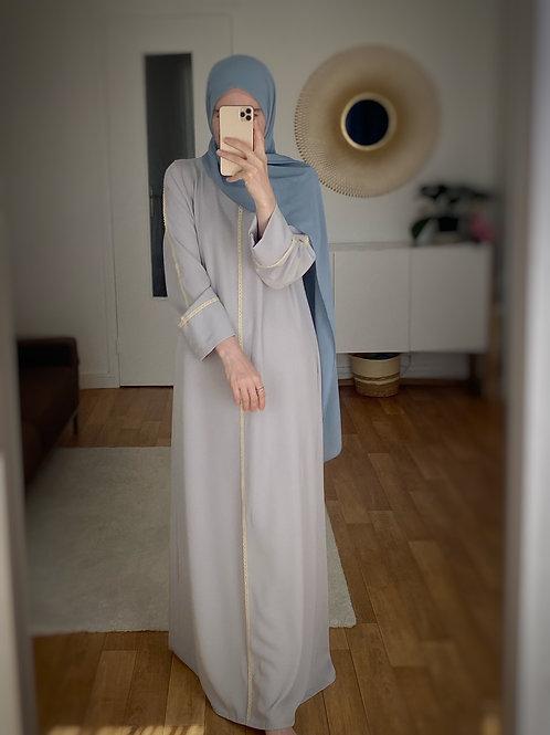 Abaya robe gris
