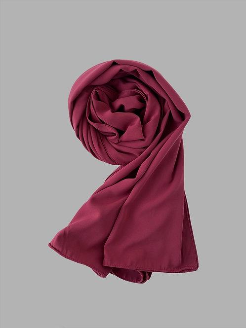 Hijab soie de médine cerise