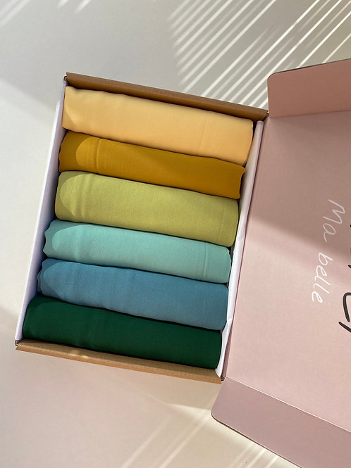 Box BANTIK collection hijabs mousseline