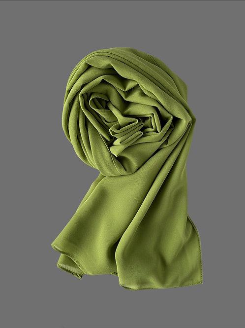 Hijab mousseline vert olive