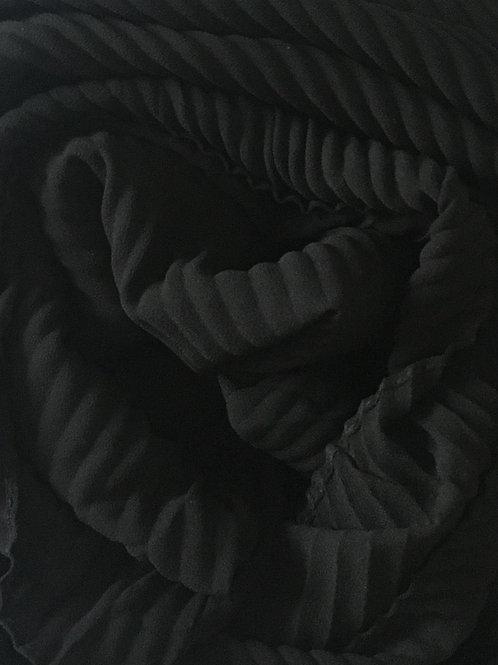 Châle mousseline plissé NOIR