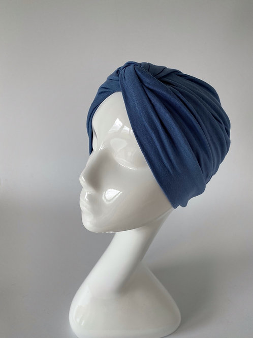 Turban Jersey Bleu