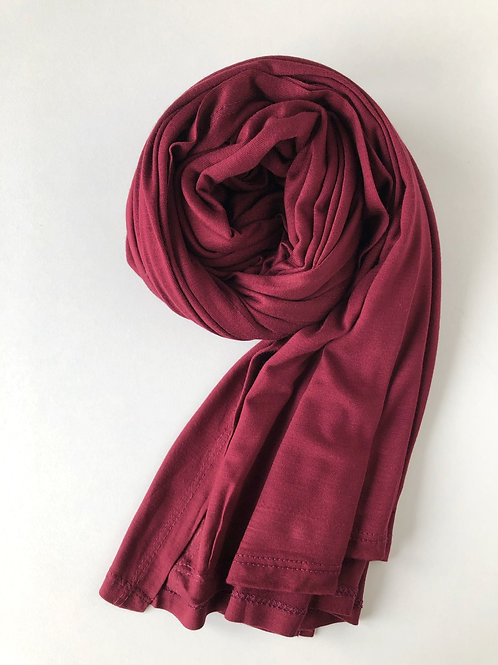 Hijab jersey premium BORDEAUX
