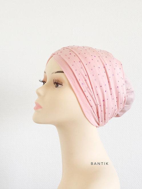 ROSE PÂLE Turban Bonnet