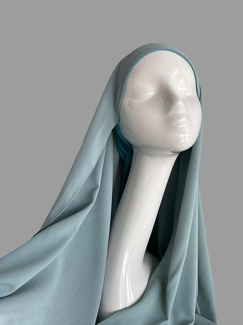 Hijab à enfiler fumée
