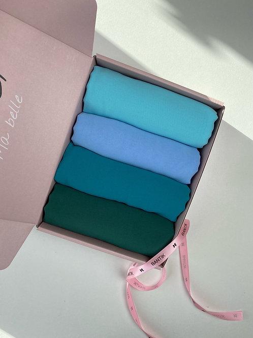 Box BANTIK 4 hijabs carrés