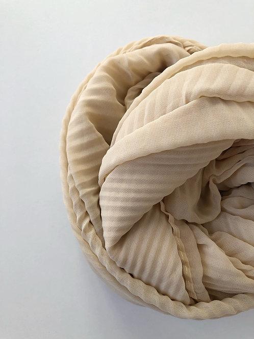 Châle mousseline plissé BEIGE