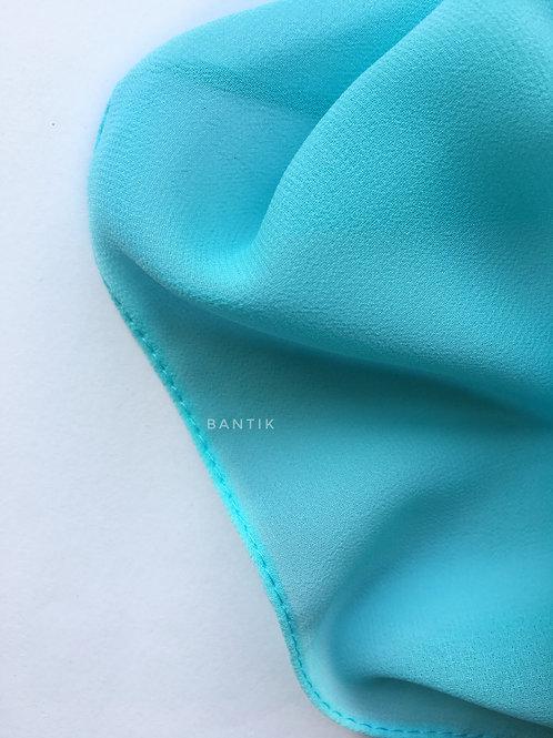 BLUE Hijab carré mousseline