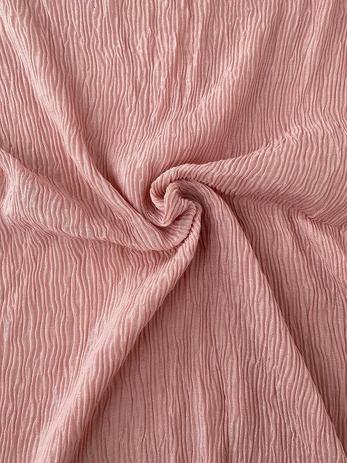 Écharpe plissée viscose Rose pâle