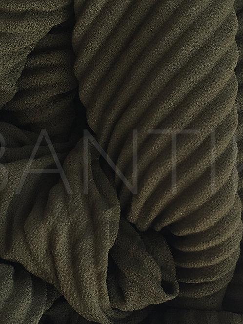 Châle mousseline plissé KAKI