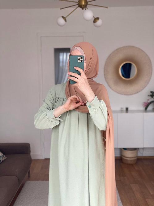 NANA robe longue VERT  PISTACHE