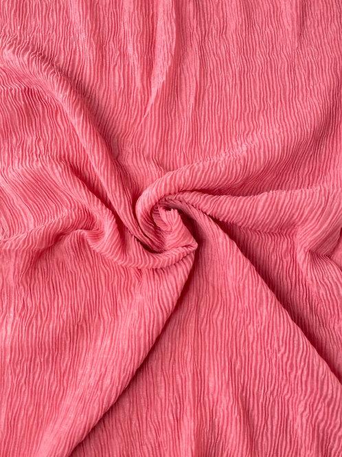 Écharpe plissée viscose Rose