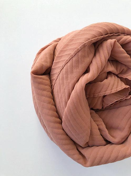 Châle mousseline plissé CAMELLE