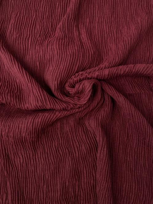 Écharpe plissée viscose Mauve