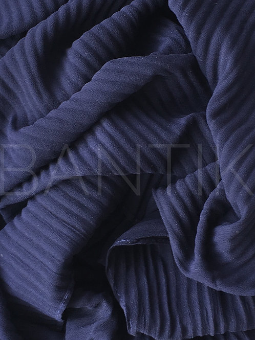 Châle mousseline plissé MARINE