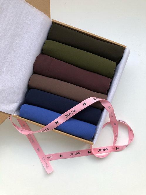 Box BANTIK collection hijab mousseline