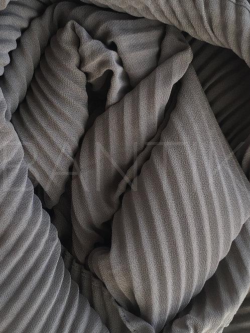 Châle mousseline plissé GRIS