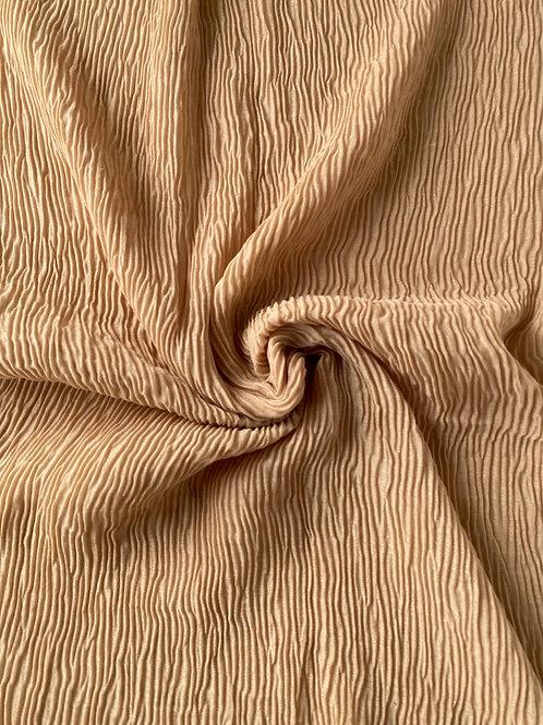 Écharpe plissée viscose Caramel