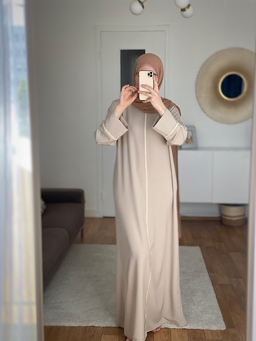 Abaya robe nude