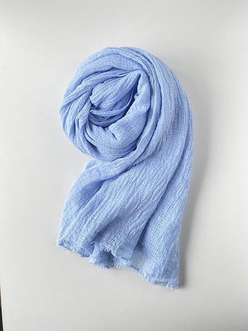 Hijab froissé blue ciel