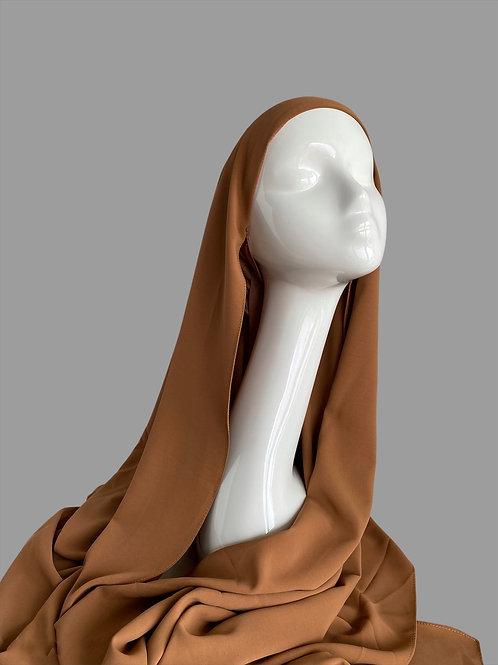 Hijab à enfiler caramel
