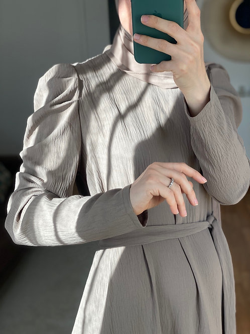 LARI robe longue GRÈGE