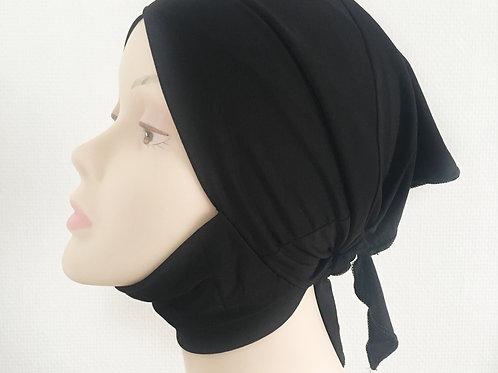 Bonnet croisé NOIR