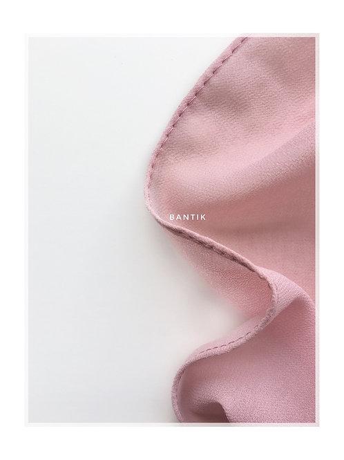 ROSE PASTEL Hijab carré en mousseline