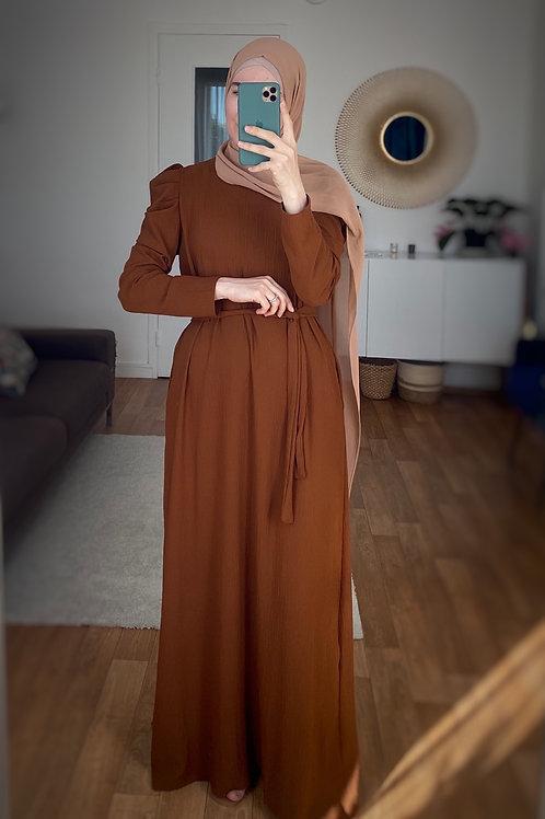 Robe longue caramel