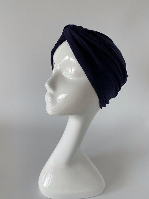 Turban Jersey Bleu foncé