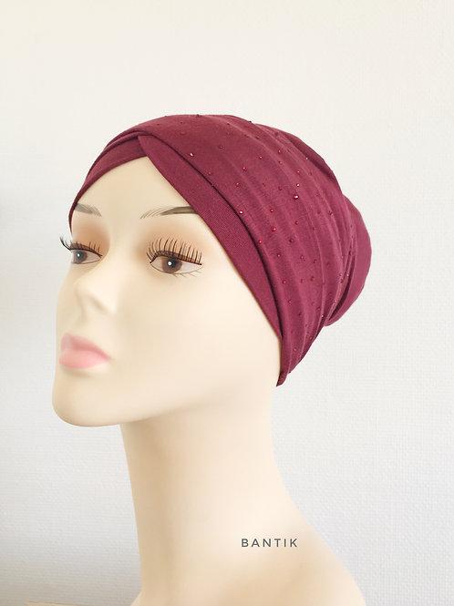 Bordeaux  Turban Bonnet