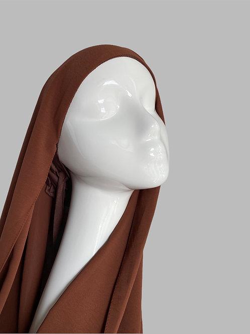 Hijab à enfiler  chocolat