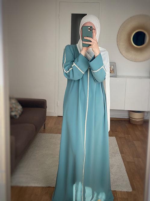 Abaya robe turquoise
