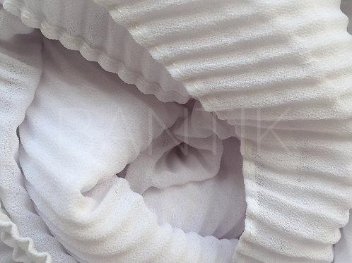 Châle mousseline plissé BLANC
