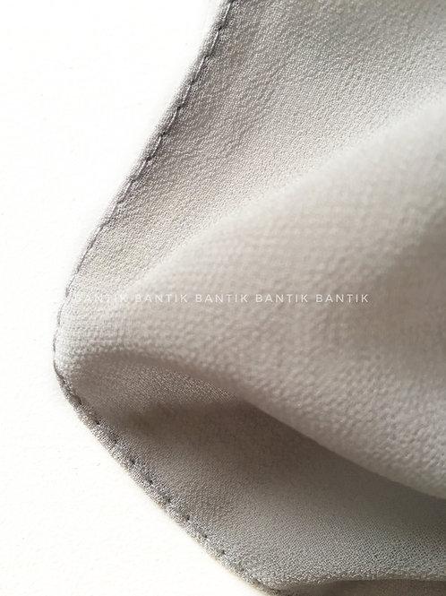Foulard carré mousseline GRIS CLAIR