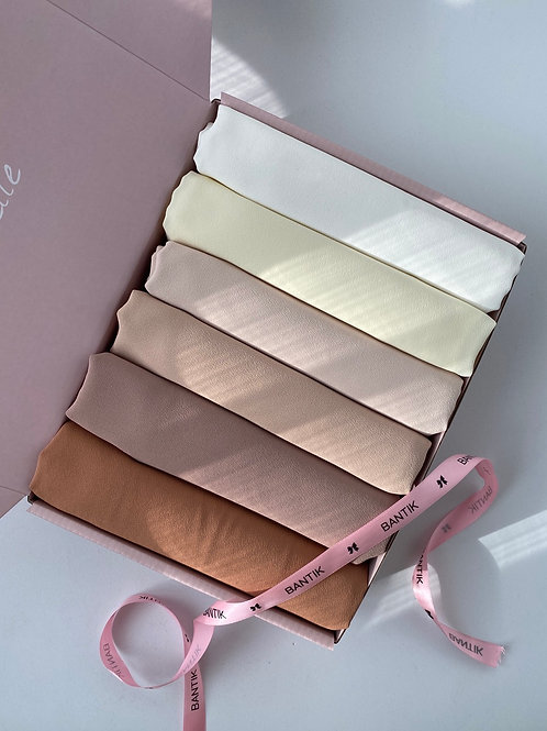 BOX HIJABS MOUSSELINE OPAQUE