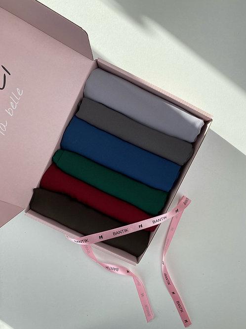 Box BANTIK 6 hijabs soie de médine B#D