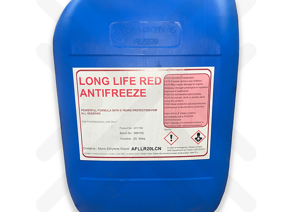 Red Concentrated Long Life Antifreeze 5 Year 20L