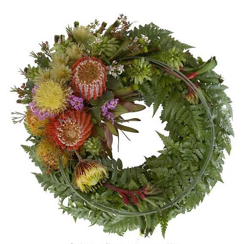WREATH OF NATIVE FLOWERS