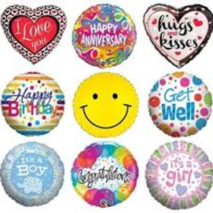 40CM HELIUM FOIL BALLOONS ALL OCCASIONS
