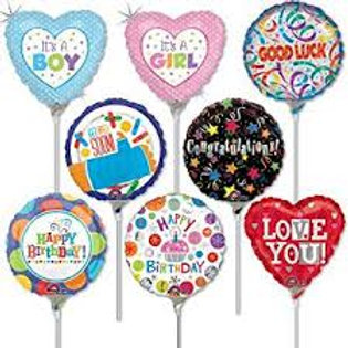 11CM STICK BALLOONS ALL OCCASIONS