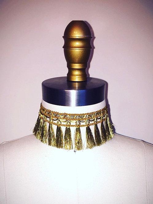 Gold Imperial Fringe Choker