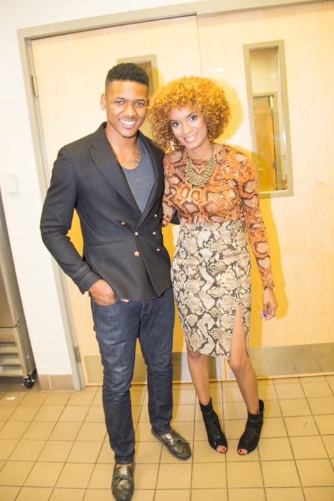 Fashion show Host Javone' and Bianca