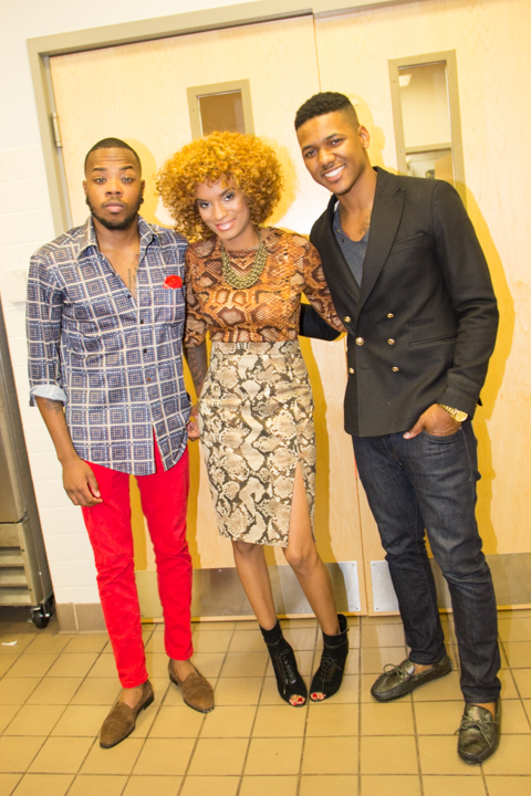 Stylist D'Angelo and Our host
