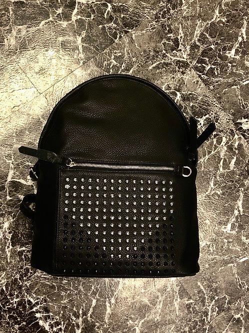 Studded Black Back Pack