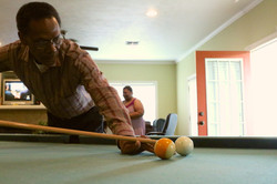 A serious game of pool